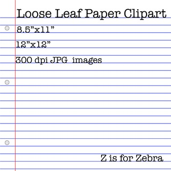 Loose Leaf Lined Paper Clipart - Free!