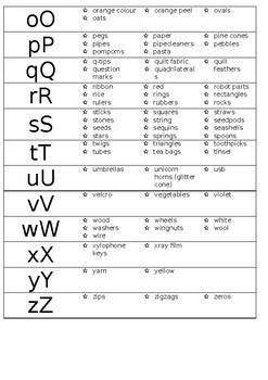 Loose Parts Alphabet