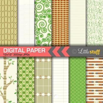 Looseleaf Themed Digital Papers