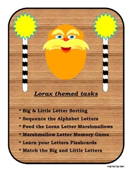 Lorax Inspired Letters for Autism
