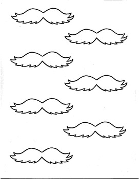 Delicate image throughout lorax mustache printable