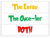 Dr. Seuss (Lorax VS Once-ler – Compare and Contrast)
