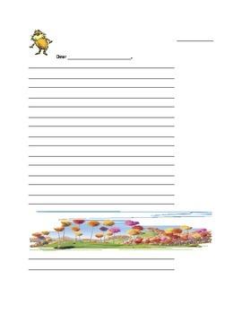 Lorax Writing Paper
