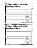 Lorax Writing Prompt