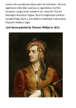 Lord Byron Handout