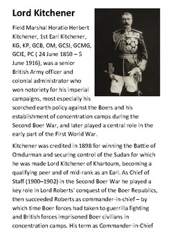 Lord Horatio Kitchener Handout