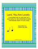 Lord, You Are Lovely