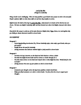 Lord Of The Flies Leadership Essay By Englteachma  Tpt Lord Of The Flies Leadership Essay Essays On Business Ethics also Science And Technology Essays  Sample Essays For High School Students