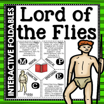 Lord of the Flies: Reading and Writing Interactive Notebook Foldable