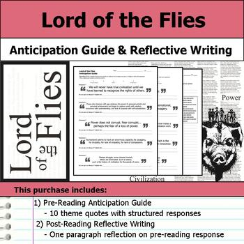 Lord of the Flies - Anticipation Guide & Post Reading Relflection