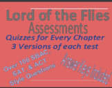 Lord of the Flies Assessment Growing Bundle 100+ ACT, SAT, SBAC Style Questions