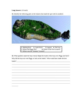 Lord of the Flies Assessment (Test)