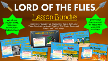 Lord of the Flies Big Bundle! (All lessons, worksheets, pl