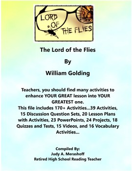 Lord of the Flies By William Golding Teacher Supplemental Resources Fun Engaging