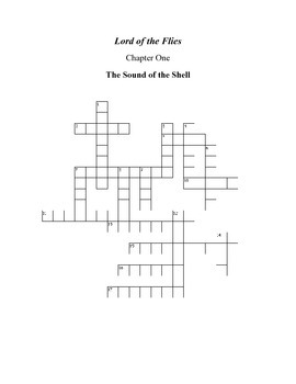 Lord of the Flies Chapter 1 Crossword Puzzle