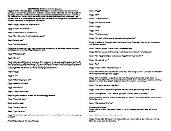 Lord of the Flies Chapter 10 SCRIPT