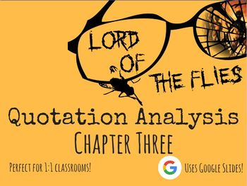 Lord of the Flies - Chapter 3 Quote Analysis