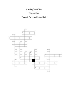 Lord of the Flies Chapter 4 Crossword Puzzle