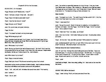 Lord of the Flies Chapter 8 SCRIPT
