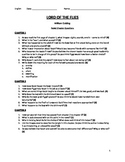 Lord of the Flies - Chapter Questions