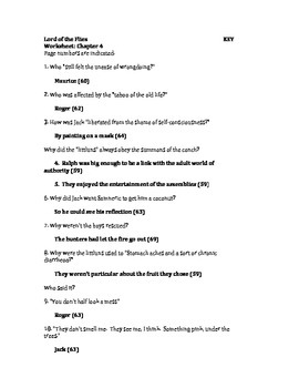 lord of the flies study guide answers pdf