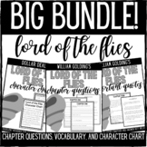 Lord of the Flies Chapter Questions and Important Quotes Bundle