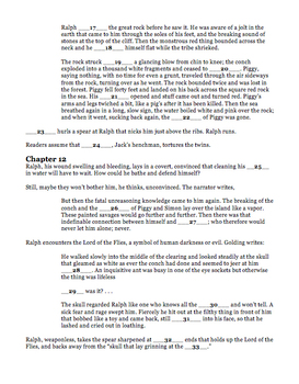 Lord of the Flies Chapters 11-12 Quiz William Golding