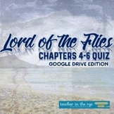 Lord of the Flies Chapters 4-6 Quiz for Google Drive™ Dist