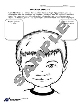 Lord of the Flies: Character Analysis - Face Mask Exercise
