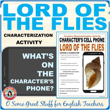 LORD OF THE FLIES CHARACTERIZATION ACTIVITY Fun and Creative!