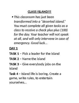 Lord of the Flies Classroom Island