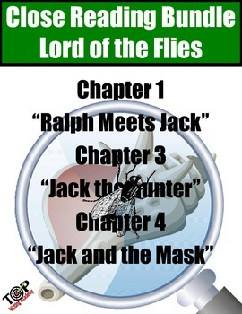 Lord of the Flies Close Reading Bundle 3 Excerpts for Anno