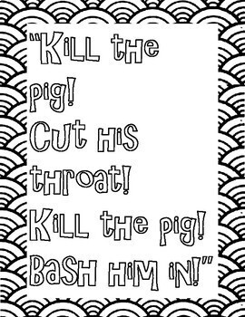 Lord of the Flies Coloring Pages: Mini Posters