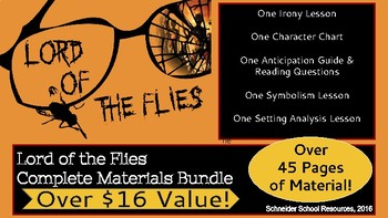 Lord of the Flies: Complete Materials Bundle