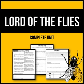 Lord of the Flies - Complete Unit - Printable Workbook