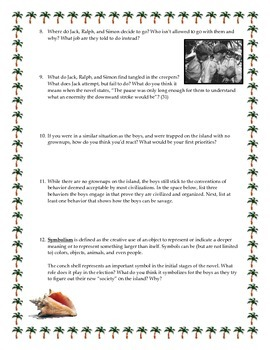 Lord of the Flies Comprehensive Discussion Questions Bundle