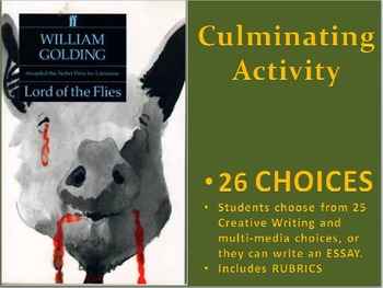Lord of the Flies: Culminating Activities Portfolio / Scrapbook, and Essay