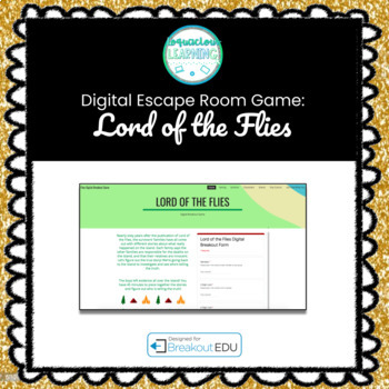 Lord of the Flies Digital Escape Room /  Breakout Game