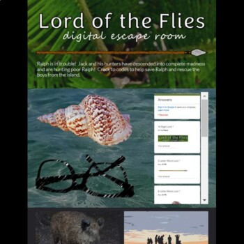 Lord of the Flies Digital Lock Box Escape Room Game