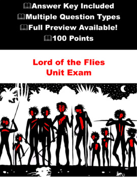 Lord of the Flies End of Unit Exam \ Test with Answers