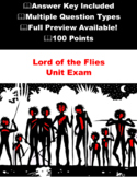 Lord of the Flies Test \ Exam with Answers - Final Test