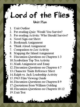 Lord of the Flies: Entire Unit Plan