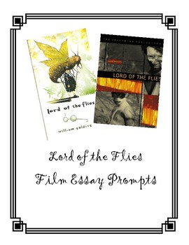 Lord Of The Flies Essay By Heidi Litwiler  Teachers Pay Teachers Lord Of The Flies Essay