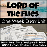 Lord of the Flies Essay Unit for Literary Analysis Writing