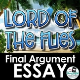 Lord of the Flies Final Argument Essay
