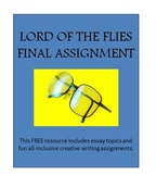 Lord of the Flies Final Assignments