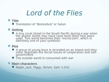 Lord of the Flies Introduction PowerPoint