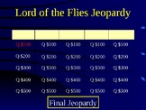 Lord of the Flies Jeopardy Study Guide Review Game