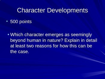 Lord of the Flies by William Golding - Jeopardy Test Review