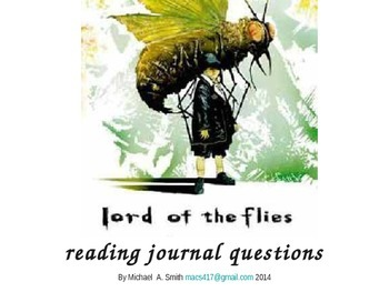 Lord of the Flies - Journal Response Questions - William Golding